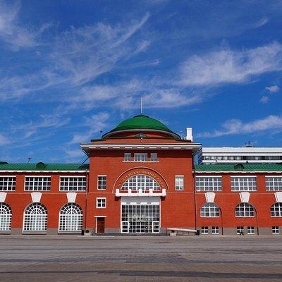 Музей хоккея. Вид со стороны ВТБ Ледового дворца
