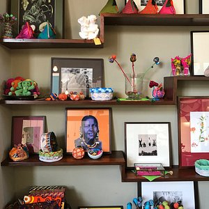A quirky shop featuring contemporary Swahili home wear and embellished accessories.