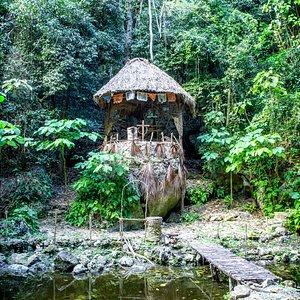 A cenote shrine