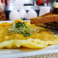 Breakfast special: Omelette with toasts