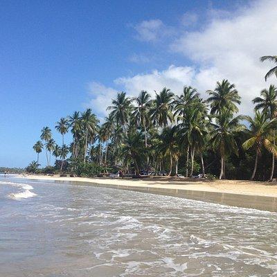 Playa Coson, an der Einmündung des Rio Coson
