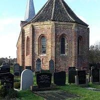 semi-roundish part of the church