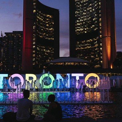 Toronto Sign by night