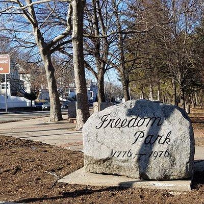 Freedom Park entrance marker
