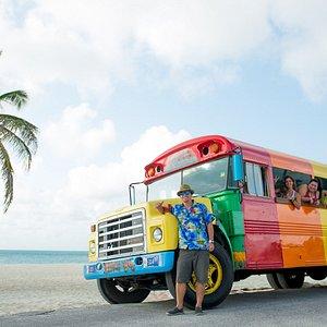 RockaBeach Tours famous Frankie's Beach Bus !