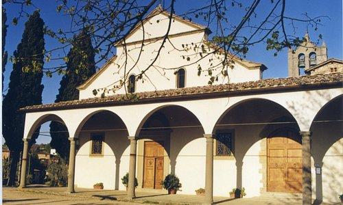 Facciata delle Pieve di San Leolino a Panzano