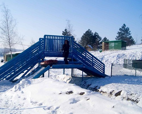 Bridge over one opf the slide tracks