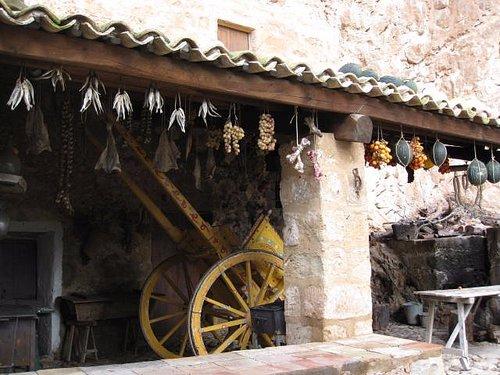 Una tettoia esterna