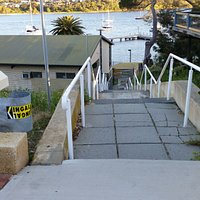 Staircase down to river level from Durdham Cr.