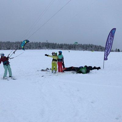 Snowkite Kurs in Oberwiesenthal von Olli P.