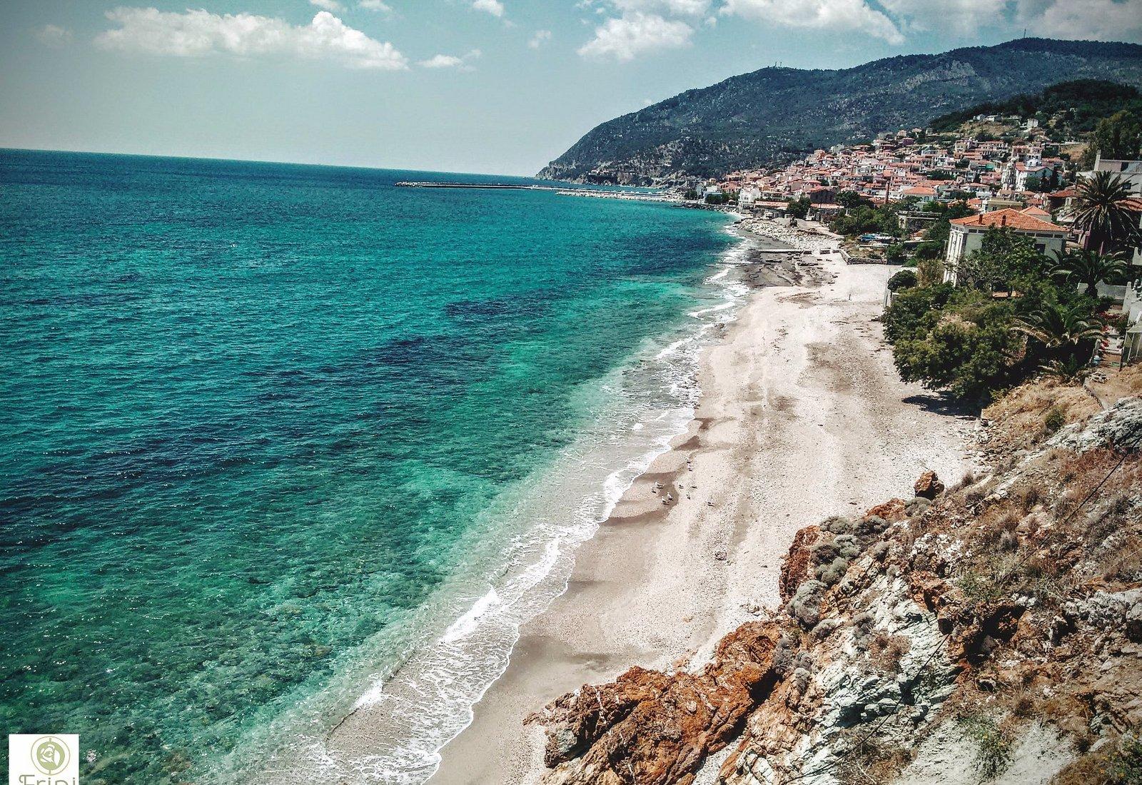 Panoramic view of the beautiful Plomari