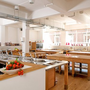 This is our state-of-the-art kitchen where many of our classes are run.