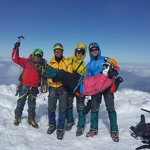 Summit of Caymabe 5785 m
