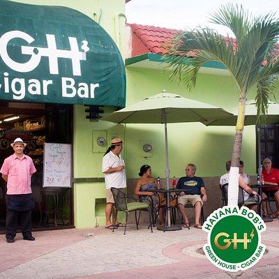 The Entrance to Havana Bob's Green House Cozumel