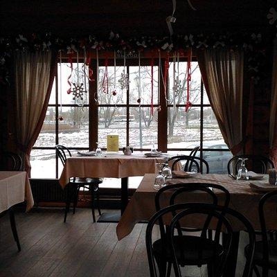 интерьер ресторана Крапива