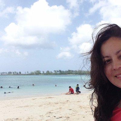Playa pública en Bahamas