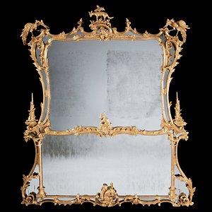 George II Chippendale Overmantel Mirror
