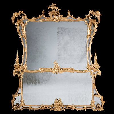 George II Chippendale Overmantel Mirror