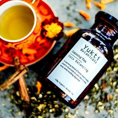 Certified Organic, Ayurvedic tea blended at Yukti Botanicals.