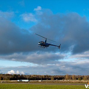 В Петергоф на  вертолете Robinson R44