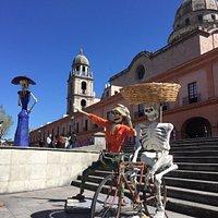 Plaza González Arratia en épocas de la feria del alfeñique
