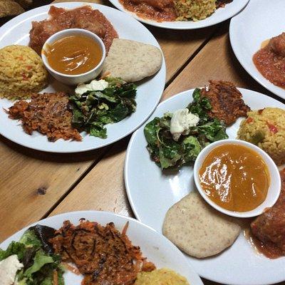 Ricas preparaciones vegetarianas en los talleres de Cocina en Anjali Yoga Inbound