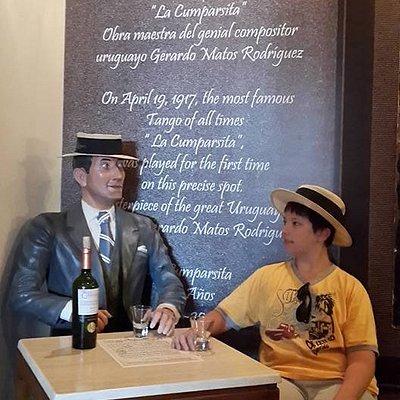 Con el creador de La Cumparsita en el Museo