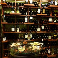 The climate controlled wine room. Over 40 wines by the bottle!
