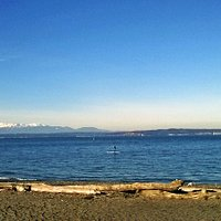 View of Olymp;ic Mountains from Golden Gardens