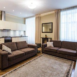 APT.no.8 Living room + kitchen