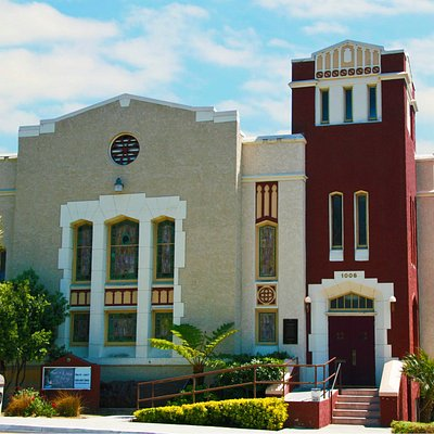 Rubicon Theatre Company is located in a renovated old church
