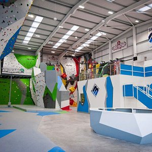 12 metre tall walls, Bouldering fun and Action Walls
