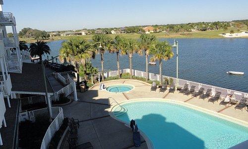 View of Pool, Hot Tub and Lake Sumter