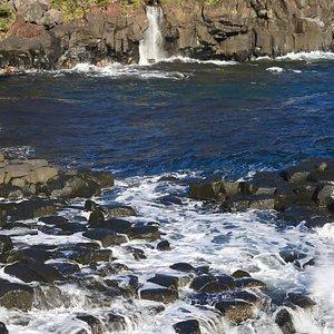 大淀小淀からみる対馬の滝