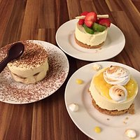 Desert anyone ?? Our tiramisu even comes with chocolate spoons