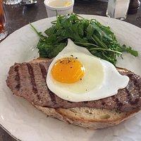 Steak Sandwich with fried egg