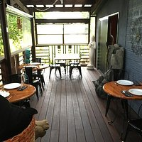 Outside seating with a cool breeze ideal for that hot summer's day
