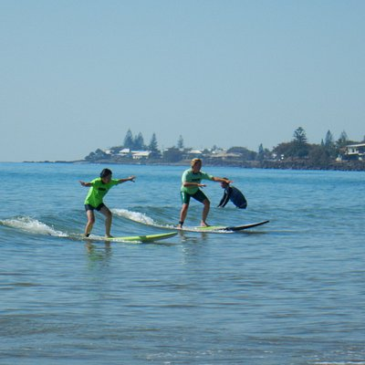 Learn to surf in clean clear conditions