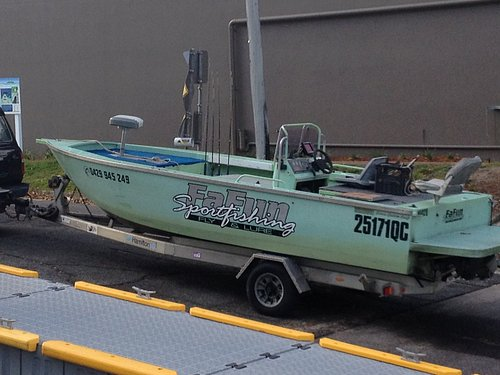 Custom built 6m Cairns Custom Craft Jet Boat for scooting across the flats