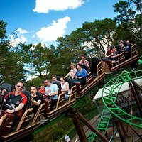 The Runaway Timber Train at Landmark Forest Adventure Park.
