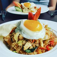 Tom Yum Fried rice, just one of our very fabulous dishes