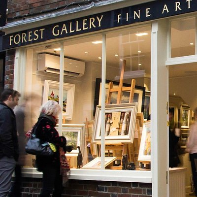 Gallery window display and exterior photo