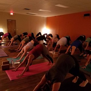 practice yoga in our beautiful, spacious studio with knowledgeable and caring instructors.