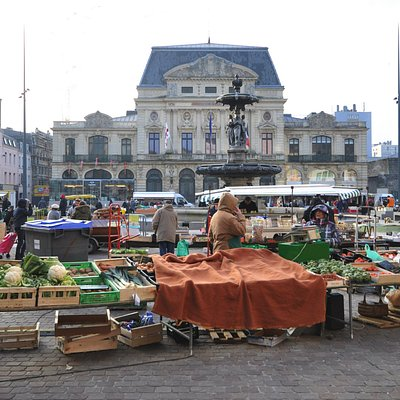 Visite du marché de Cherbourg