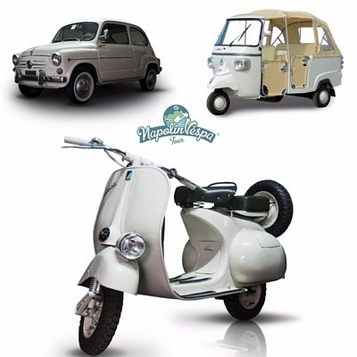 NapolinVespa Tour - Vespa, Fiat 500 or Ape Tour around Naples, Amalfi Coast and surroundings
