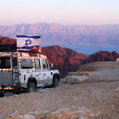 Mont Yoach coucher de soleil sur le Sinaï, Eilat Action