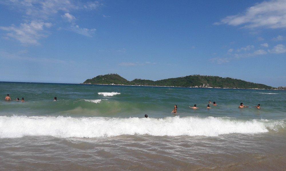 Praia Campeche - Florianópolis SC. Em frente a ilha do Campeche