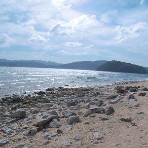 Beach near Moray Lagoon.