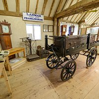 A view of the Museum showing the Victorian funeral bier