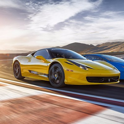 Ferrari and Lamborghini at SPEEDVEGAS